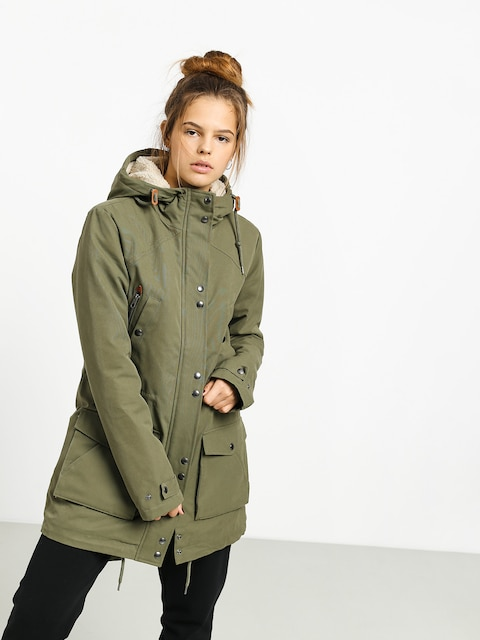 Bunda Volcom Walk On By 5K Parka Wmn (army green combo)