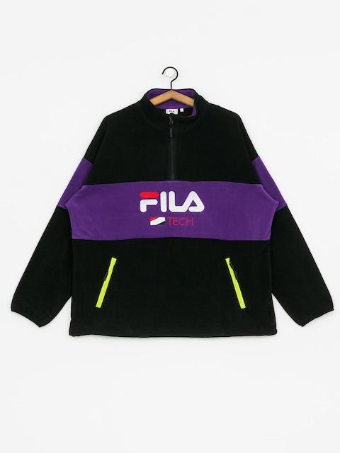 Mikina Fila Reijo Half ZIP (black/tillandsia purple)