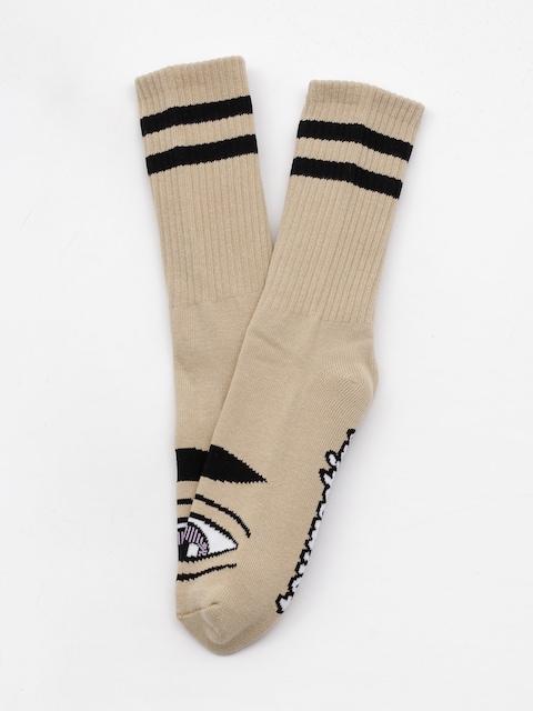 Ponožky Toy Machine Sect Eye (camel 2)