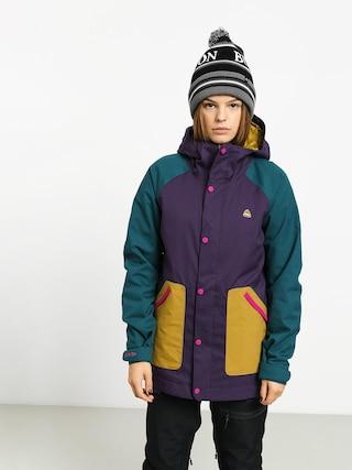 Snowboardovu00e1 bunda Burton Eastfall Wmn (velvet/dpteal/evilo)
