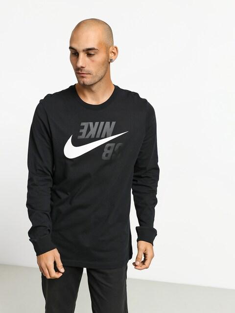 Triko Nike SB Backwards Fs (black/phantom)