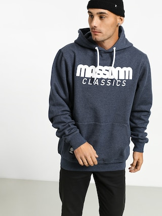 Mikina s kapucu0148ou MassDnm Classics HD (heather navy)