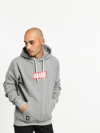Mikina s kapucňou MassDnm Big Box Medium Logo HD (light heather grey)