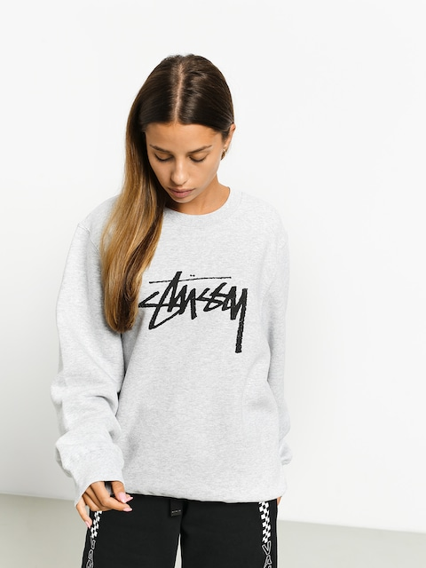 Mikina Stussy Stock Crew Wmn (ash heather)