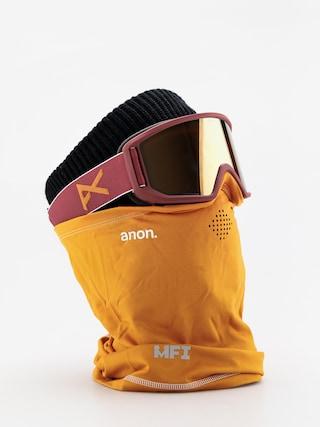 Okuliare na snowboard Anon Relapse Mfi (maroon/sonar bronze)