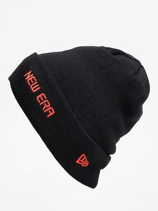 Čiapka New Era Cuff Knit (black/orange)