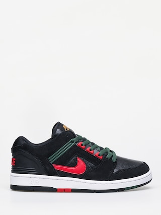 Topánky Nike SB Air Force II Low (black/gym red deep forest)