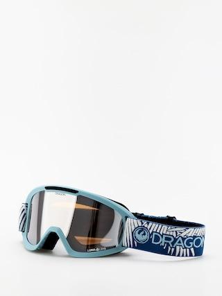 Snowboardove okuliare Dragon DX2 (woven palms/lumalens silver ion/lumalens flash blue)