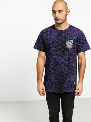 Tričko Grizzly Griptape Scales All Over (purple)