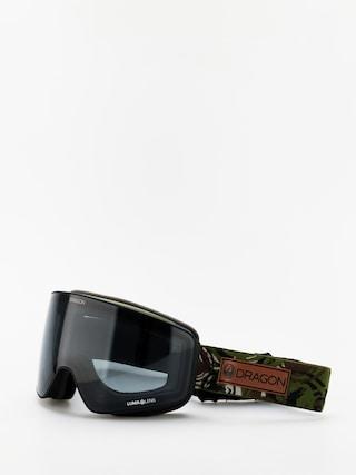 Snowboardovu00e9 okuliare Dragon PXV (icon camo/lumalens dark smoke/lumalens rose)