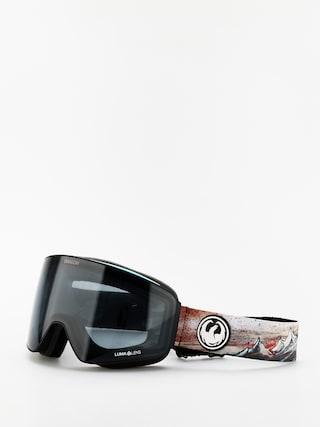 Snowboardovu00e9 okuliare Dragon PXV (bryan iguchi sig19/lumalens dark smoke/lumalens flash blue)