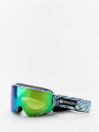 Snowboardovu00e9 okuliare Dragon PXV (tropics/lumalens green ion/lumalens amber)
