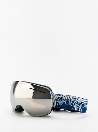 Snowboardovu00e9 okuliare Dragon X1s (woven palms/lumalens silver ion/lumalens flash blue)