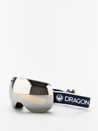 Snowboardovu00e9 okuliare Dragon X1 (designer/lumalens silver ion/lumalens flash blue)