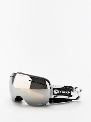 Snowboardovu00e9 okuliare Dragon X1s (feather/lumalens silver ion/lumalens flash blue)