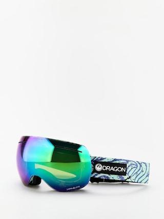 Snowboardovu00e9 okuliare Dragon X1 (tropics/lumalens green ion/lumalens amber)