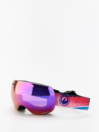 Snowboardovu00e9 okuliare Dragon X1 (abstract/lumalens purple ion/lumalens amber)