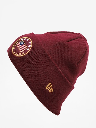 u010ciapka New Era Flagged Cuff Knit (maroon)