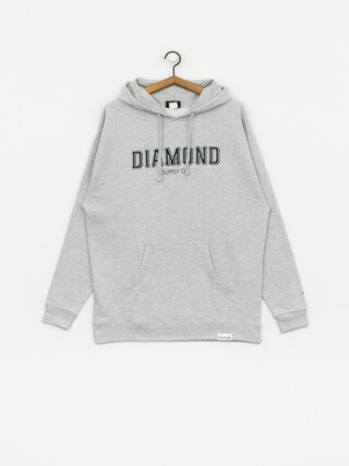 Mikina s kapucu0148ou Diamond Supply Co. Sf Diamond HD (heather grey)