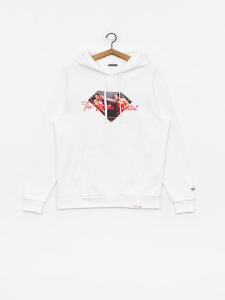 Mikina s kapucu0148ou Diamond Supply Co. Dmnd X Muhammad Ali Ali Sign HD (white)