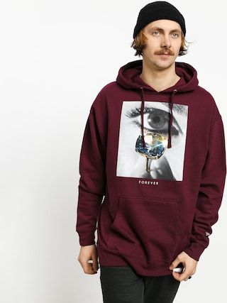 Mikina s kapucu0148ou Diamond Supply Co. Eye Diamond HD (burgundy)