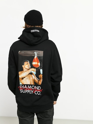 Mikina s kapucu0148ou Diamond Supply Co. Dmnd X Muhammad Ali Worlds Greatest HD (black)