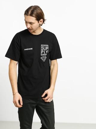 Tričko Diamond Supply Co. Stacked Type (black)