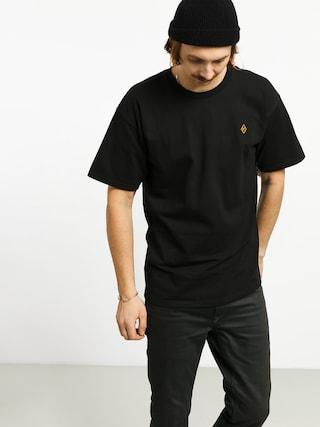 Tričko Krooked Diamond K Emb (black)