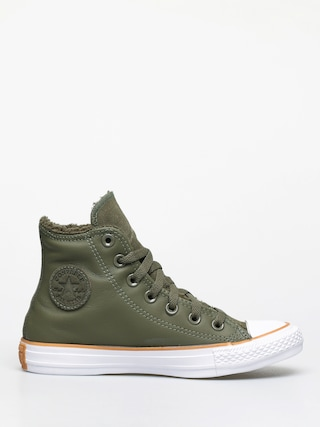 Tenisky Converse Chuck Taylor All Star Hi Faux Leather Wmn (field surplus/white/honey)