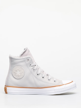 Tenisky Converse Chuck Taylor All Star Hi Faux Leather Wmn (pale putty/white/honey)