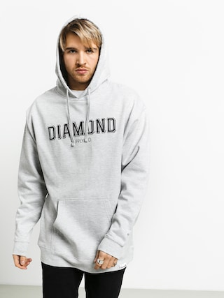 Mikina s kapucňou Diamond Supply Co. Sf Diamond HD (heather grey)
