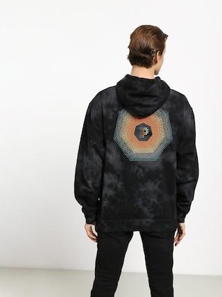 Mikina s kapucňou Primitive Particle Crystal Washed HD (black)