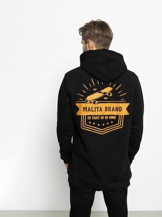 Mikina s kapucňou Malita Go Skate HD (black)