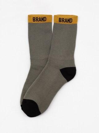 Ponožky Malita Simple K (olive/black/mustard)