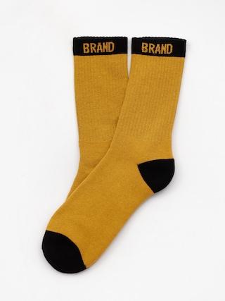 Ponožky Malita Simple Y (mustard/black)