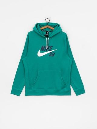 Mikina s kapucu0148ou Nike SB Sb Icon HD (neptune green/white)