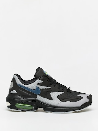 Topu00e1nky Nike Air Max2 Light (black/thunderstorm wolf grey volt)