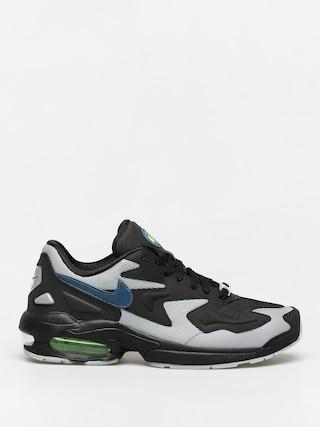 Topu00e1nky Nike Air Max2 Light (black/thunderstorm wolf grey volt)