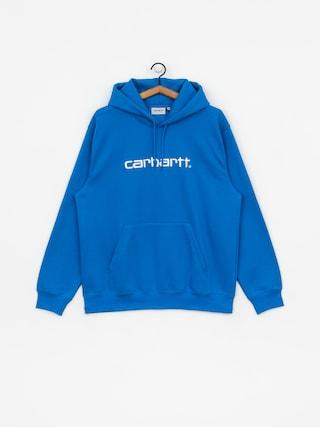 Mikina s kapucu0148ou Carhartt WIP Carhartt HD (azzuro/white)