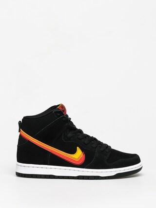 Topu00e1nky Nike SB Dunk High Pro (black/university gold team orange)