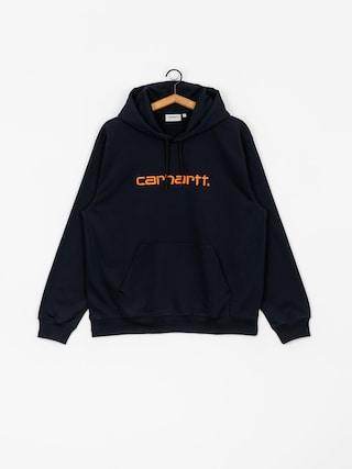 Mikina s kapucňou Carhartt WIP Carhartt HD (dark navy/clockwork)