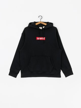 Mikina s kapucňou Levi's Relaxed Graphic Box Tab HD (black)