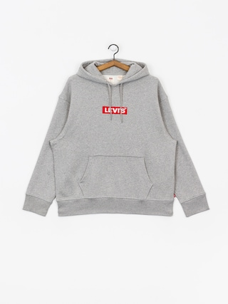 Mikina s kapucu0148ou Levi's Relaxed Graphic Box Tab HD (grey)