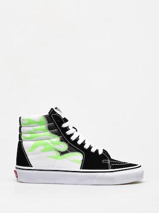 Topu00e1nky Vans Sk8 Hi (flame black/true white)