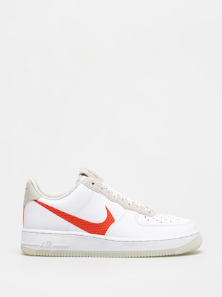 Topu00e1nky Nike Air Force 1 07 Lv8 (white/total orange summit white black)