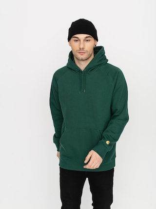 Mikina s kapucňou Carhartt WIP Chase HD (treehouse/gold)