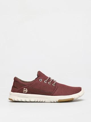 Topánky Etnies Scout (burgundy/tan/gum)