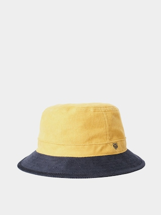 Klobu00fak Brixton B Shield Bucket Hat (sunset yellow/washed navy)