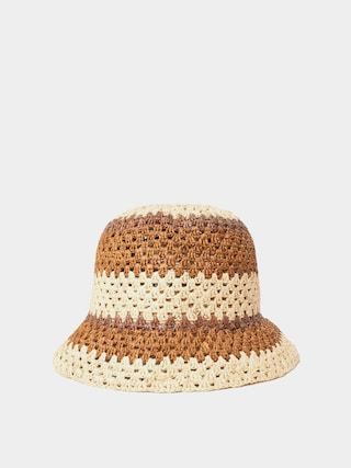 Klobu00fak Brixton Essex Raffia Bucket Hat Wmn (tan/brown)