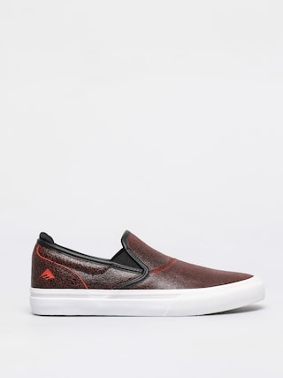 Topu00e1nky Emerica Wino G6 Slip On (black/red/white)